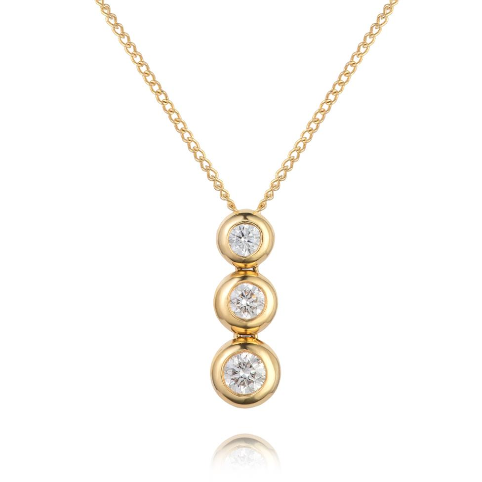 18ct Yellow Gold Diamond Necklace 0.45ct Thumbnail Image 0