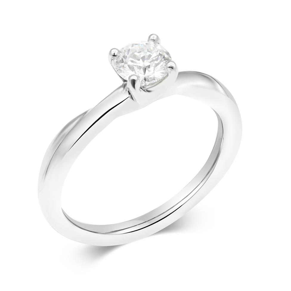 Platinum Diamond Solitaire Engagement Ring 0.50ct Thumbnail Image 0