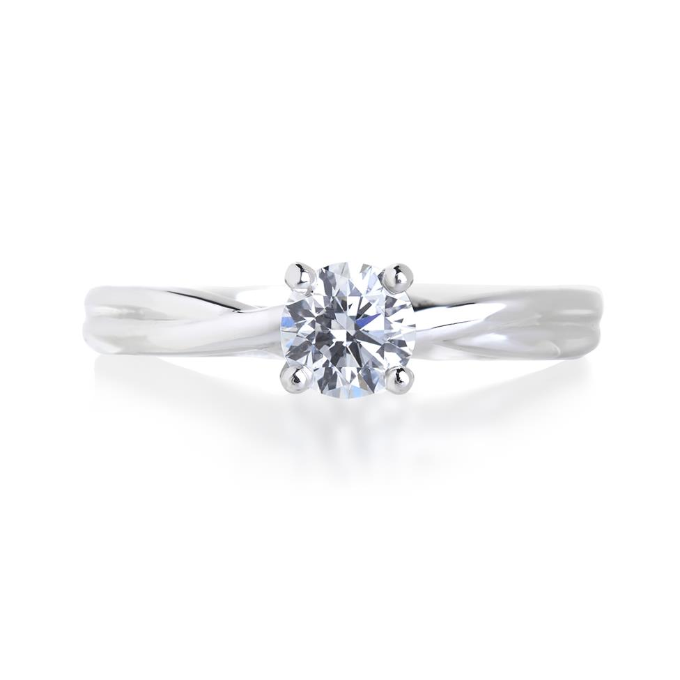 Platinum Diamond Solitaire Engagement Ring 0.50ct Thumbnail Image 2