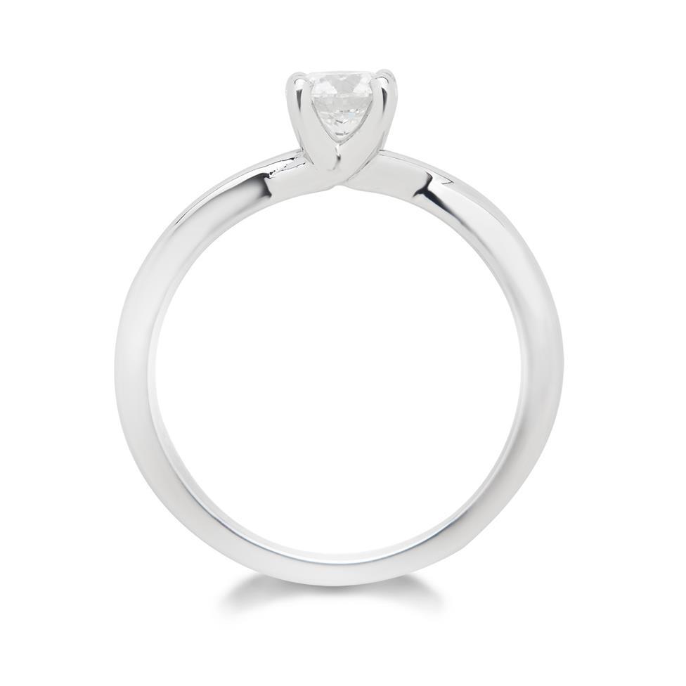 Platinum Diamond Solitaire Engagement Ring 0.50ct Thumbnail Image 3