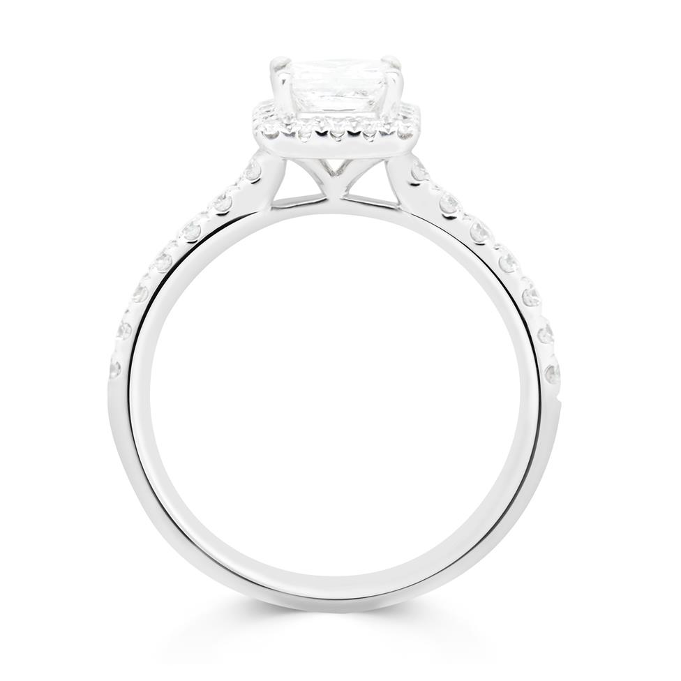 18ct White Gold Princess Cut 0.96ct Diamond Ring Thumbnail Image 2
