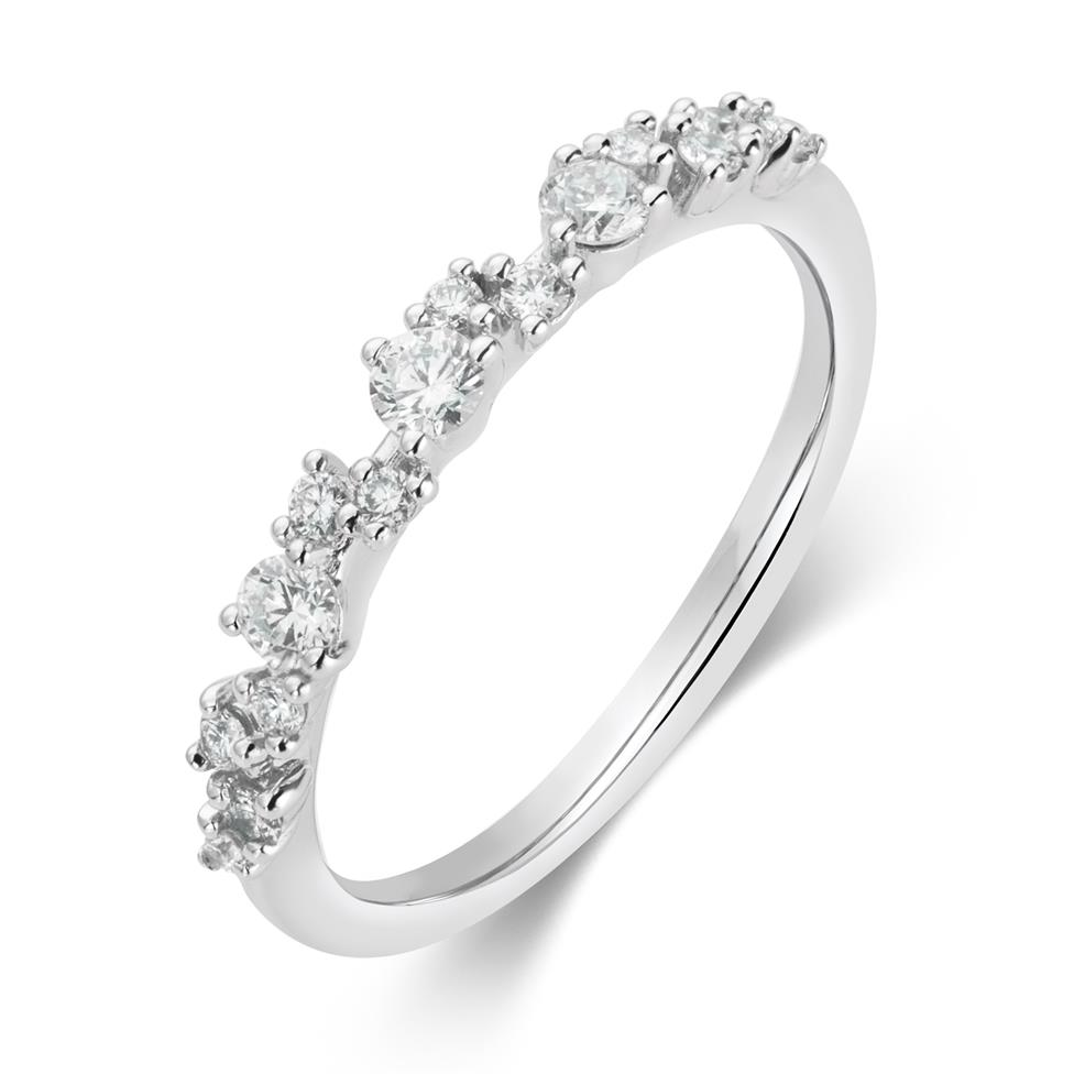 18ct White Gold Diamond Dress Ring 0.33ct Thumbnail Image 0