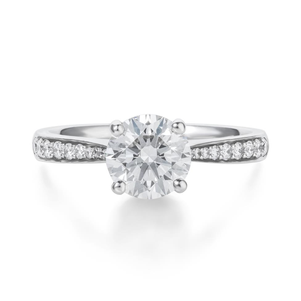Platinum Diamond Solitaire Engagement Ring 1.66ct Thumbnail Image 1