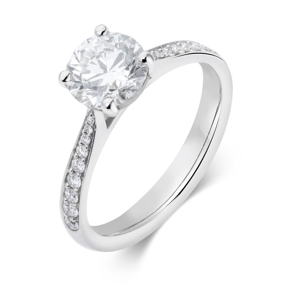 Platinum Diamond Solitaire Engagement Ring 1.66ct Thumbnail Image 0