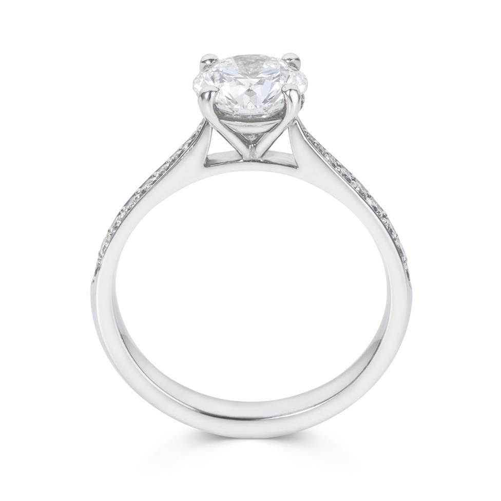 Platinum Diamond Solitaire Engagement Ring 1.66ct Thumbnail Image 2