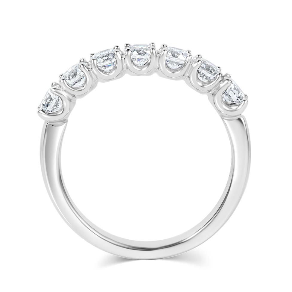 Platinum Diamond Half Eternity Ring 1.10ct Thumbnail Image 3