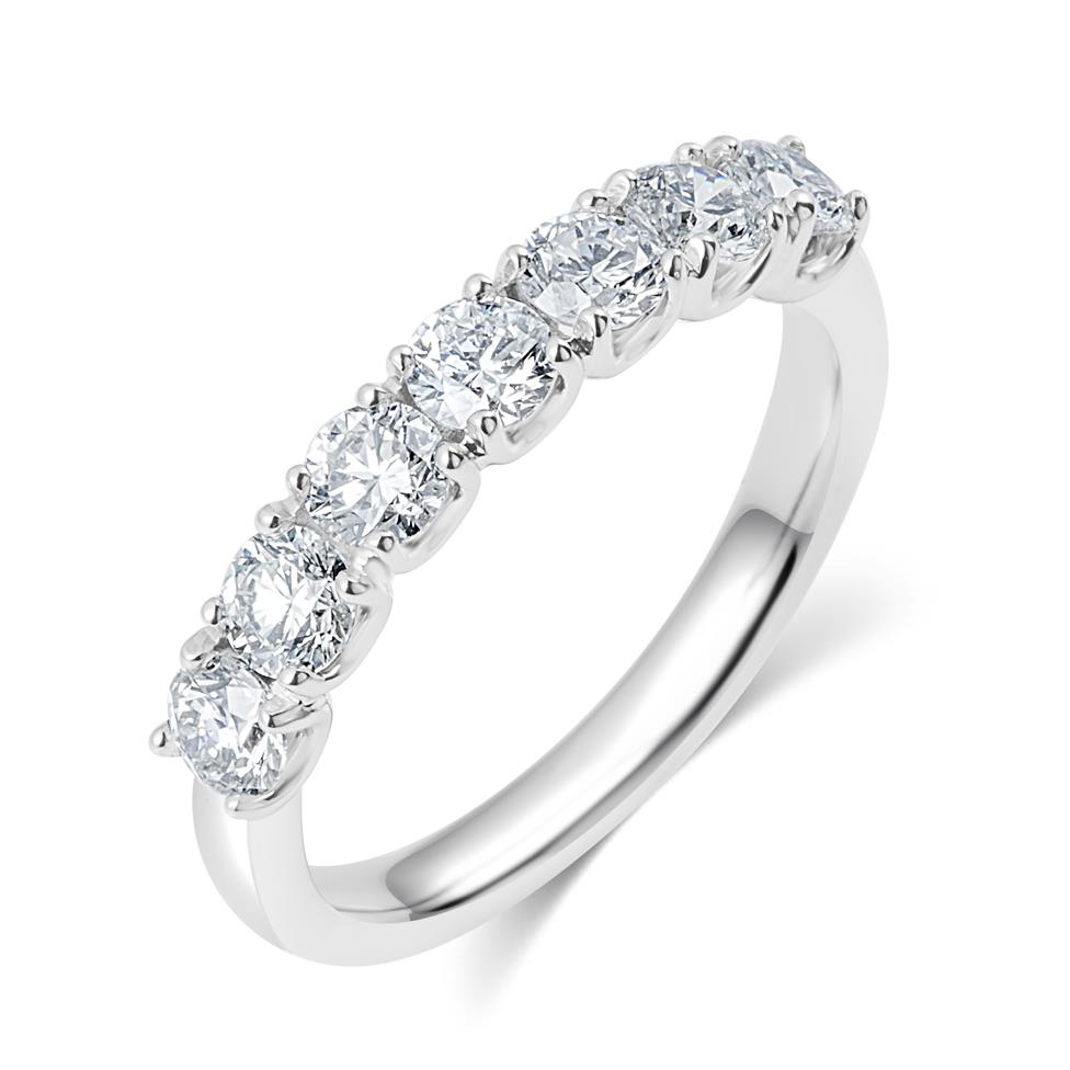 Platinum Diamond Half Eternity Ring 1.10ct Thumbnail Image 0