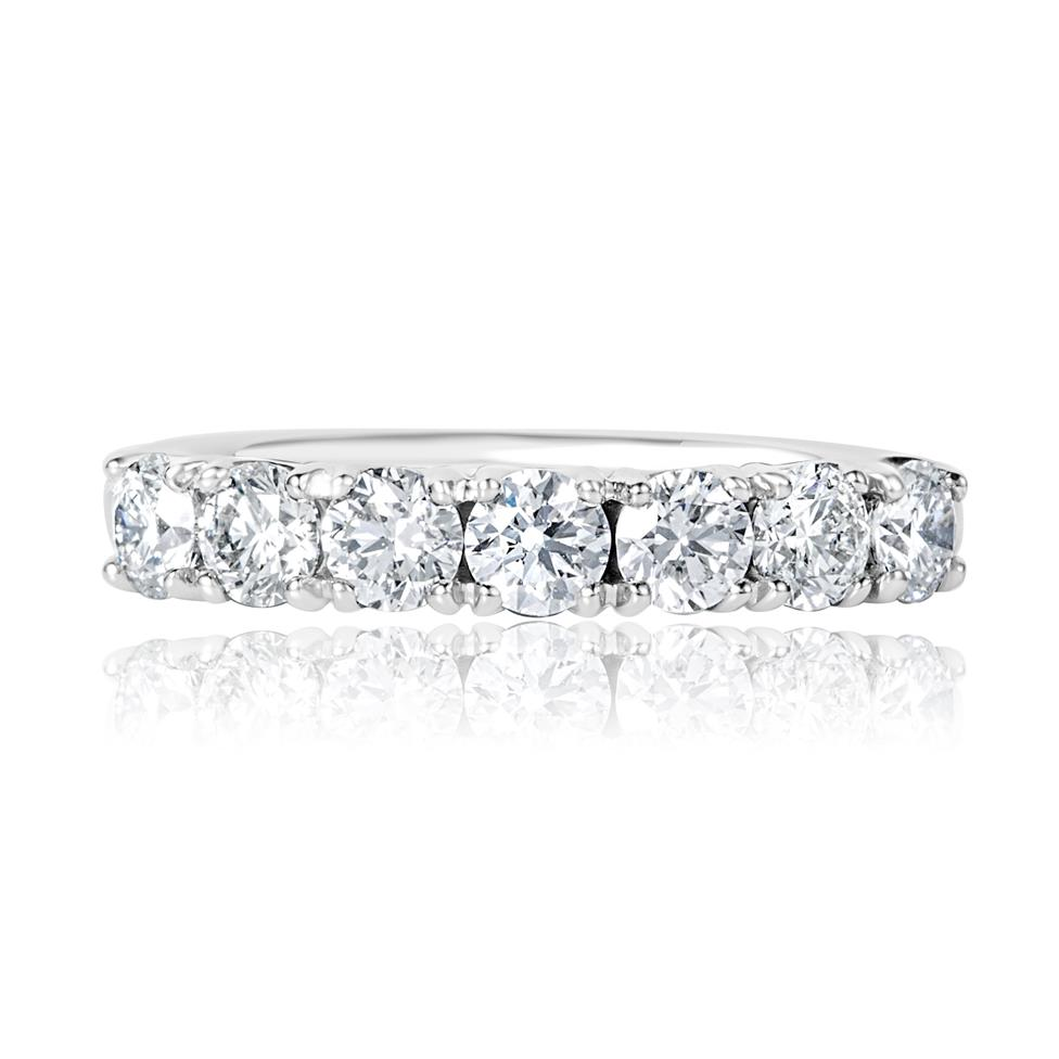 Platinum Diamond Half Eternity Ring 1.10ct Thumbnail Image 2