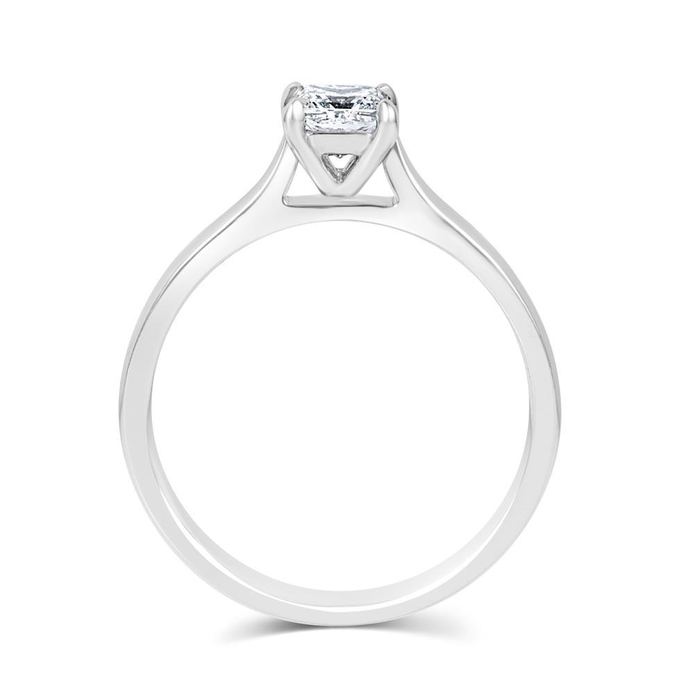 Platinum Classic Design Princess Cut Diamond Solitaire Engagement Ring 0.40ct Thumbnail Image 2