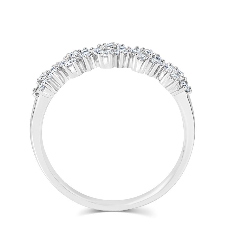 18ct White Gold Flower Design Diamond Dress Ring 0.45ct  Thumbnail Image 3
