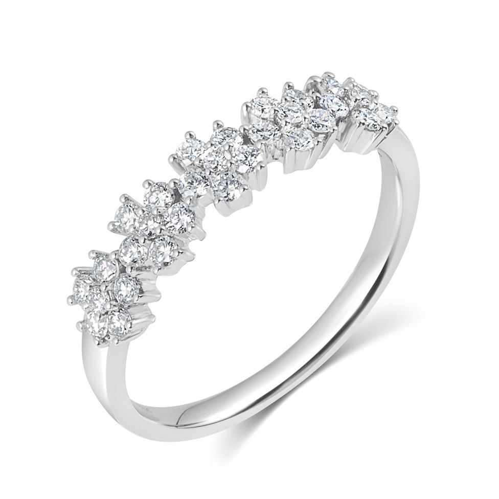 18ct White Gold Flower Design Diamond Dress Ring 0.45ct  Thumbnail Image 0