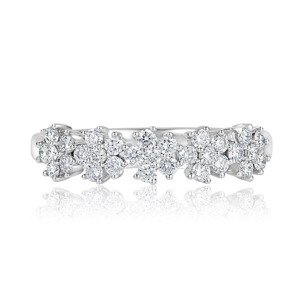 18ct White Gold Flower Design Diamond Dress Ring 0.45ct  Thumbnail Image 2