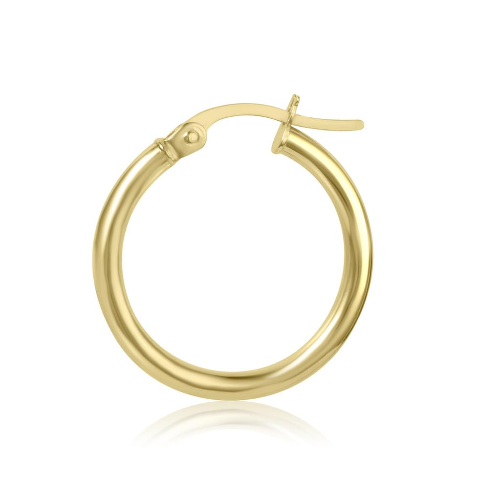 18ct Yellow Gold Hoop Earrings 18mm Thumbnail Image 2