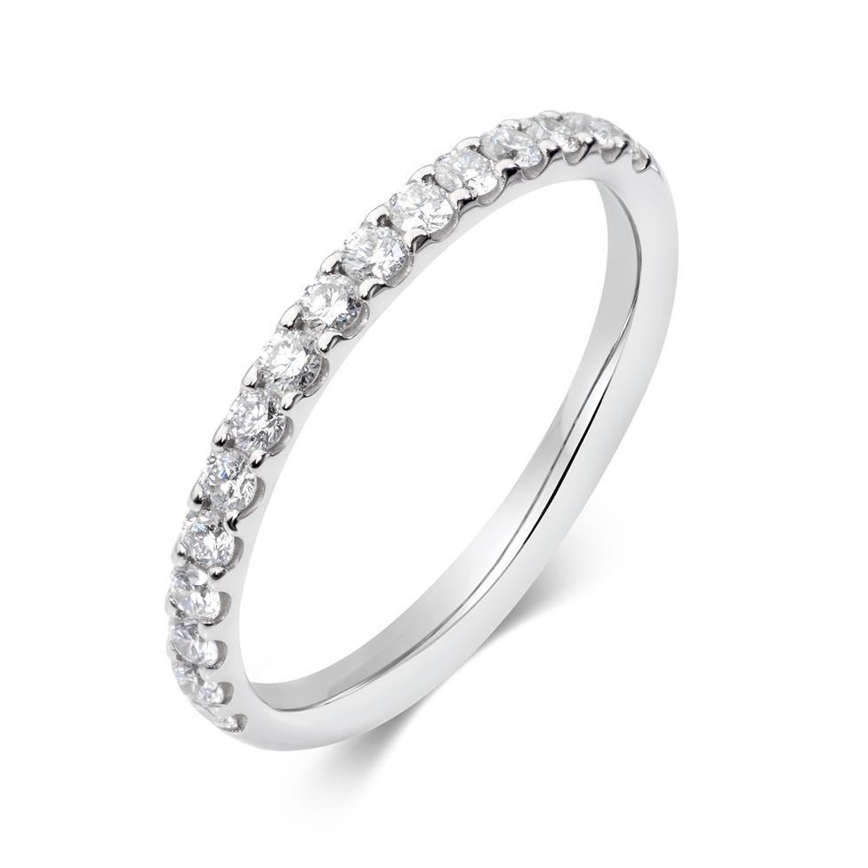 Platinum Diamond Half Eternity Ring 0.33ct Thumbnail Image 0