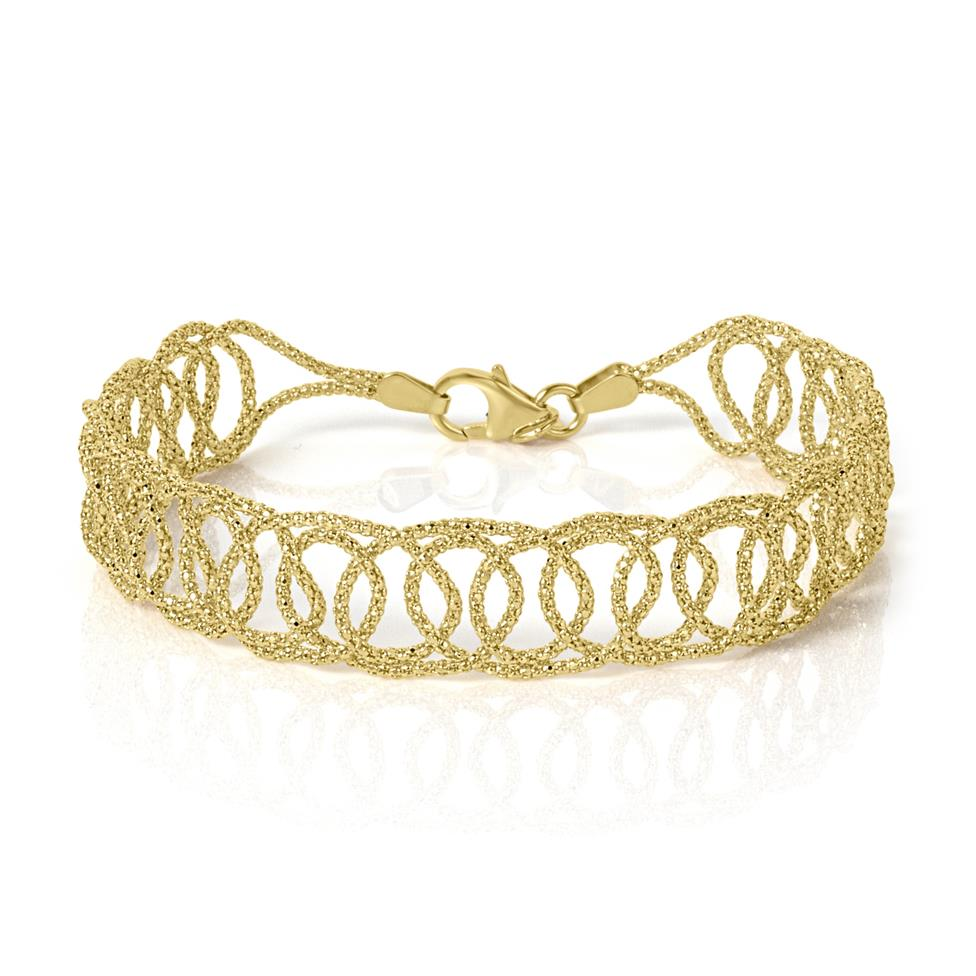 18ct Yellow Gold Filigree Bracelet  Thumbnail Image 0