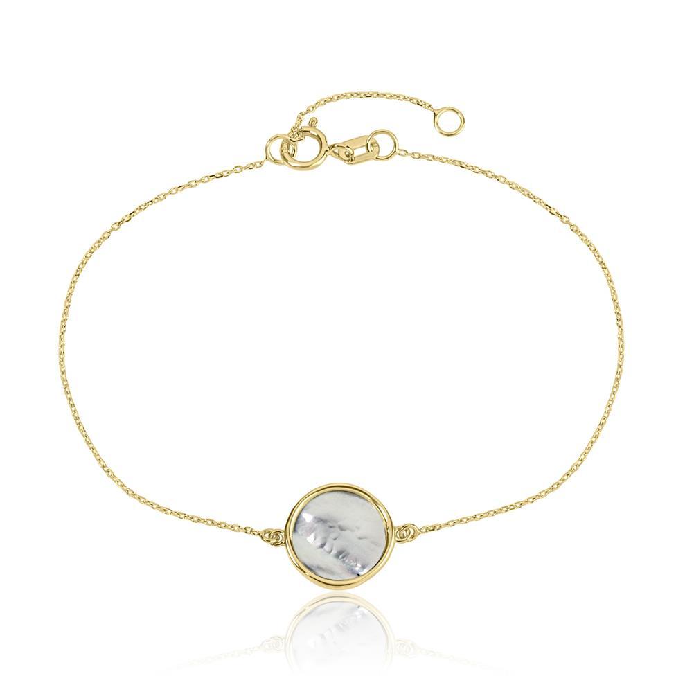 Nova 18ct Yellow Gold Mother of Pearl Bracelet Thumbnail Image 0