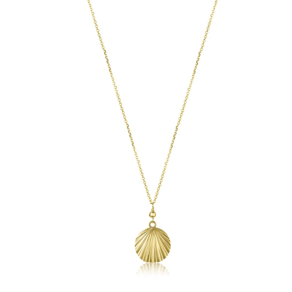 18ct Yellow Gold Shell Design Necklace Thumbnail Image 0