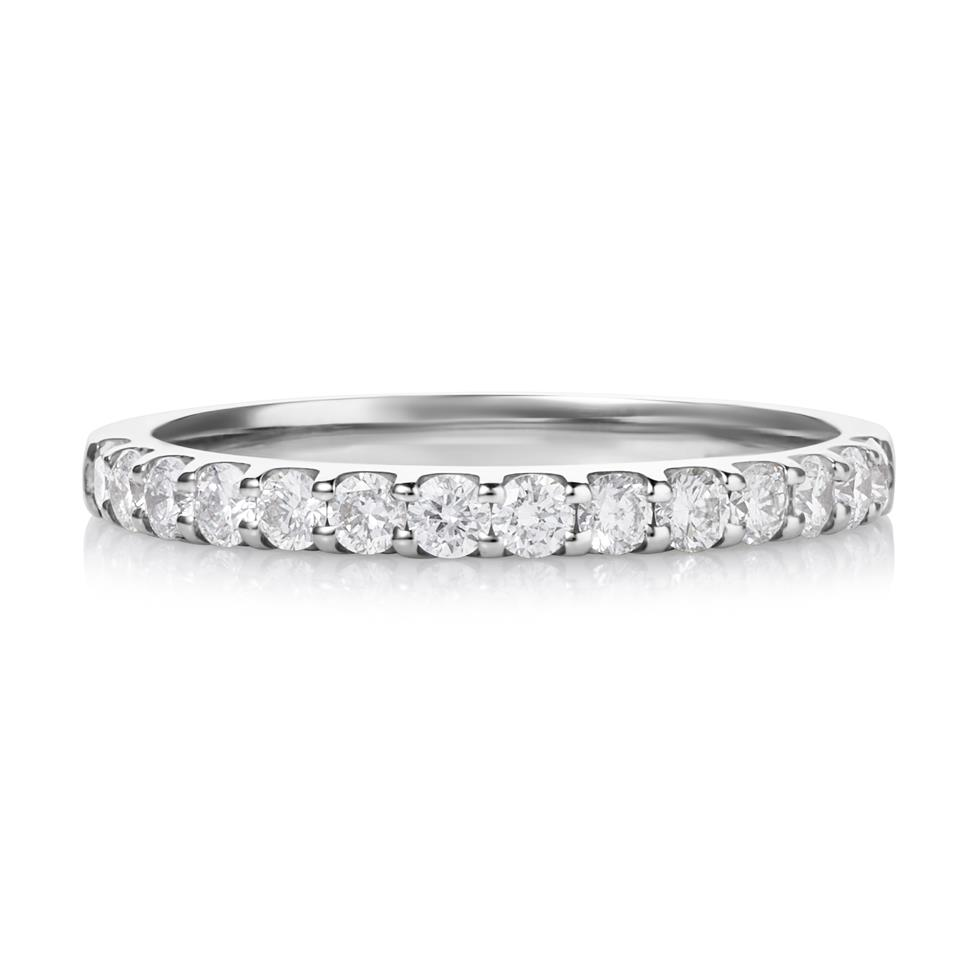 Platinum Diamond Half Eternity Ring 0.50ct Thumbnail Image 2