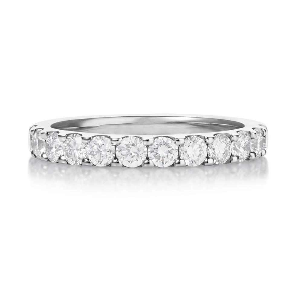 Platinum Diamond Half Eternity Ring 0.70ct Thumbnail Image 1