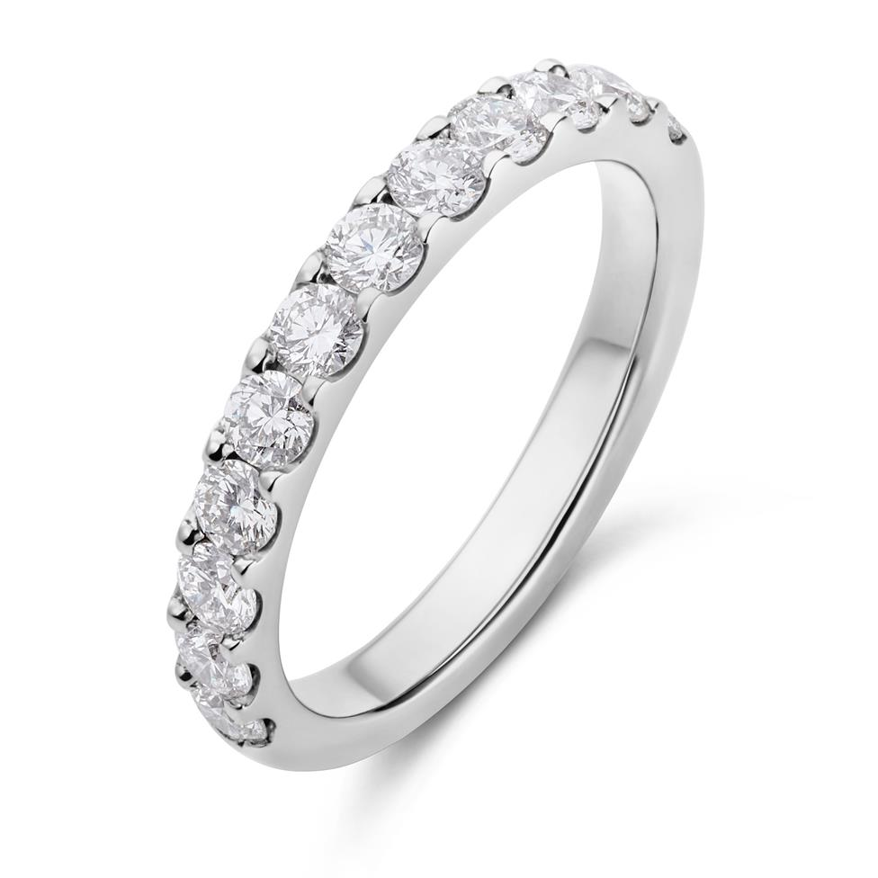 Platinum Diamond Half Eternity Ring 0.70ct Thumbnail Image 0