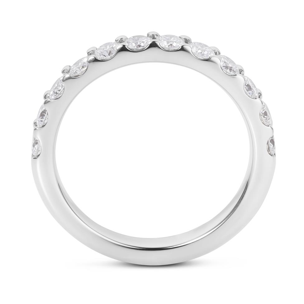 Platinum Diamond Half Eternity Ring 0.70ct Thumbnail Image 2