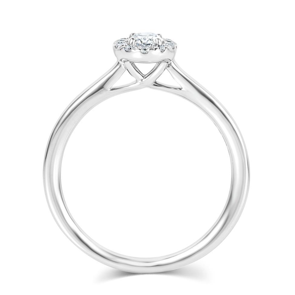 Platinum Round Diamond Halo Engagement Ring 0.40ct Thumbnail Image 2