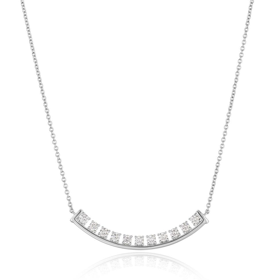 18ct White Gold Diamond Necklace 0.52ct Thumbnail Image 0