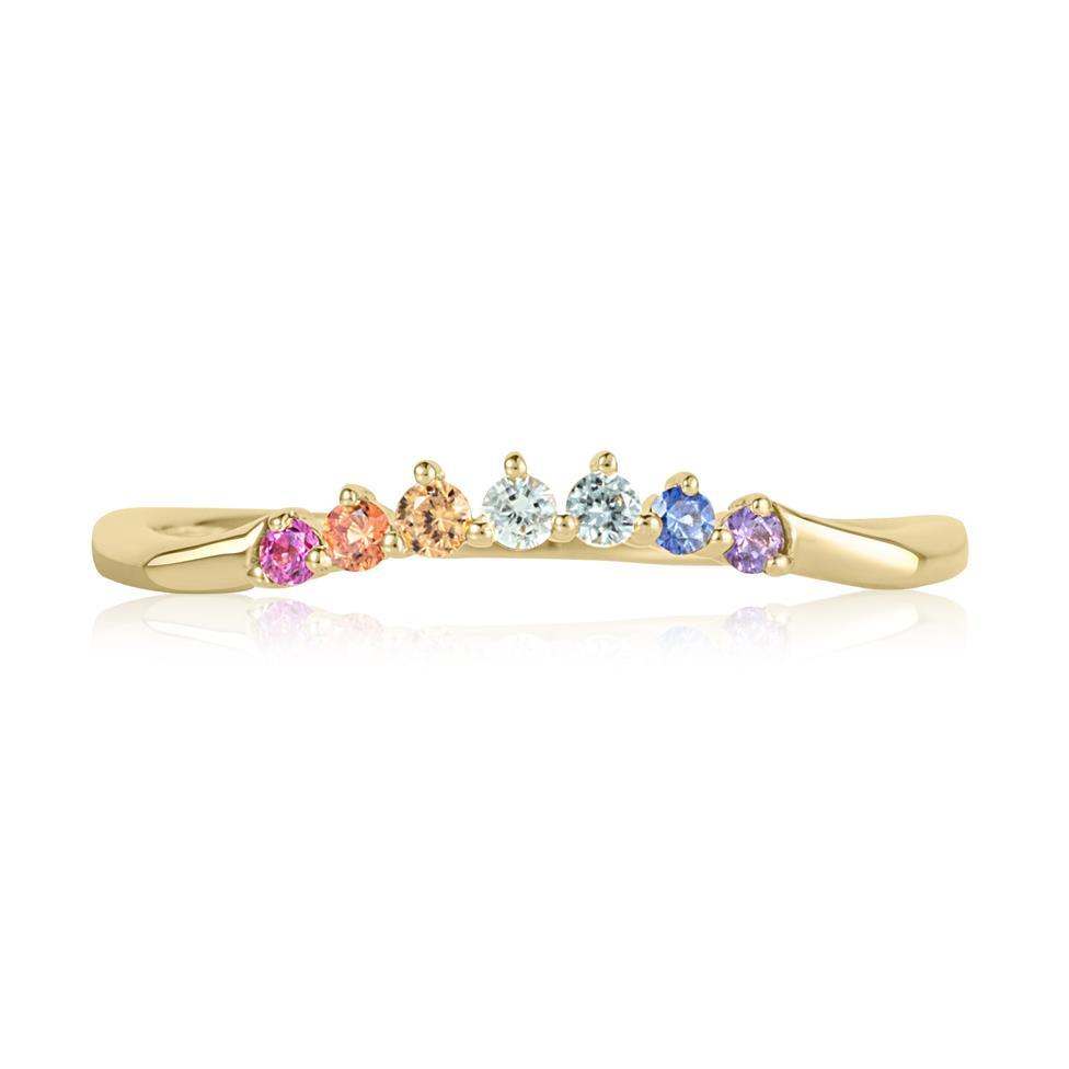 Samba 18ct Yellow Gold Rainbow Sapphire Dress Ring Thumbnail Image 1