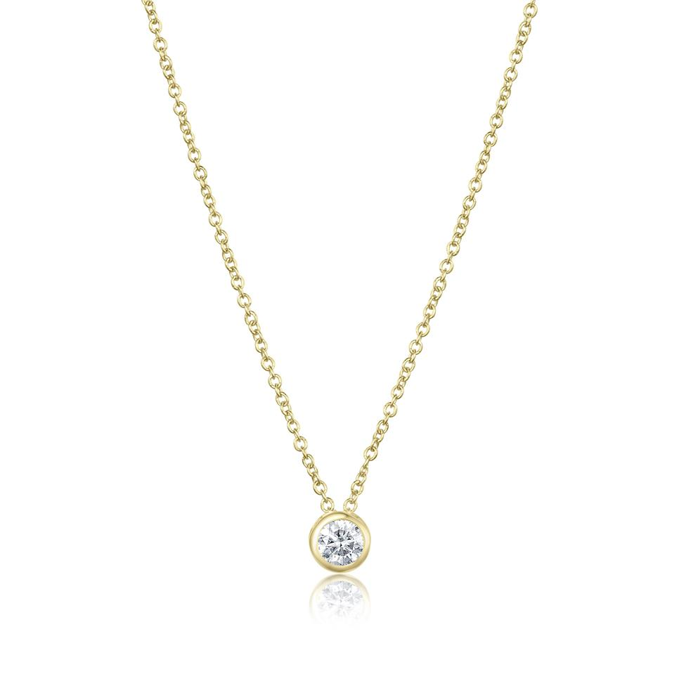 18ct White Gold Diamond Solitaire Necklace 0.20ct Thumbnail Image 0