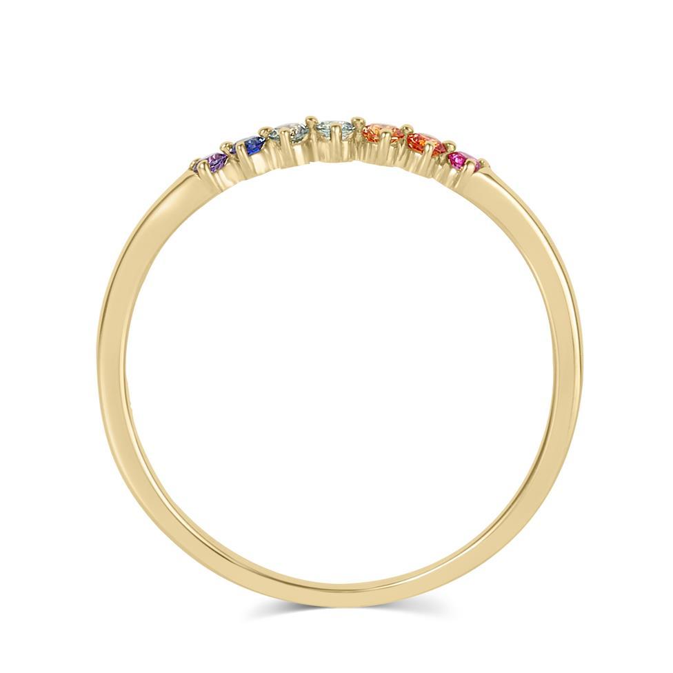 Samba 18ct Yellow Gold Rainbow Sapphire Dress Ring Thumbnail Image 2