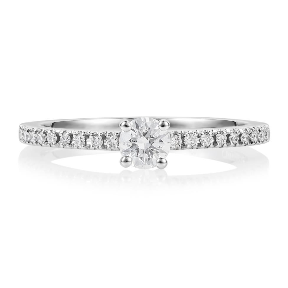 Platinum Diamond Solitaire Ring Thumbnail Image 1
