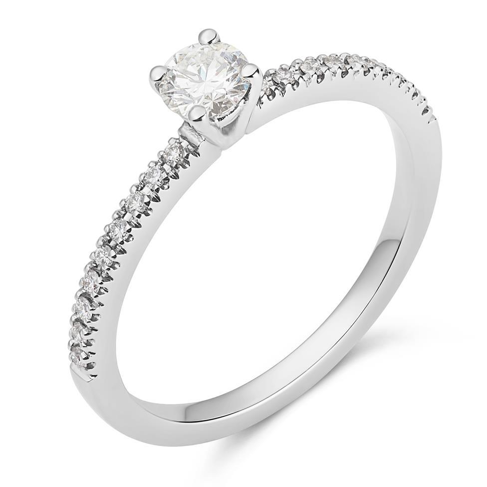 Platinum Diamond Solitaire Ring Thumbnail Image 0
