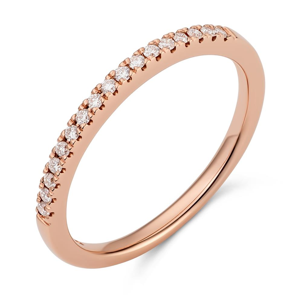 18ct Rose Gold Diamond Set Wedding Ring 0.12ct Thumbnail Image 0