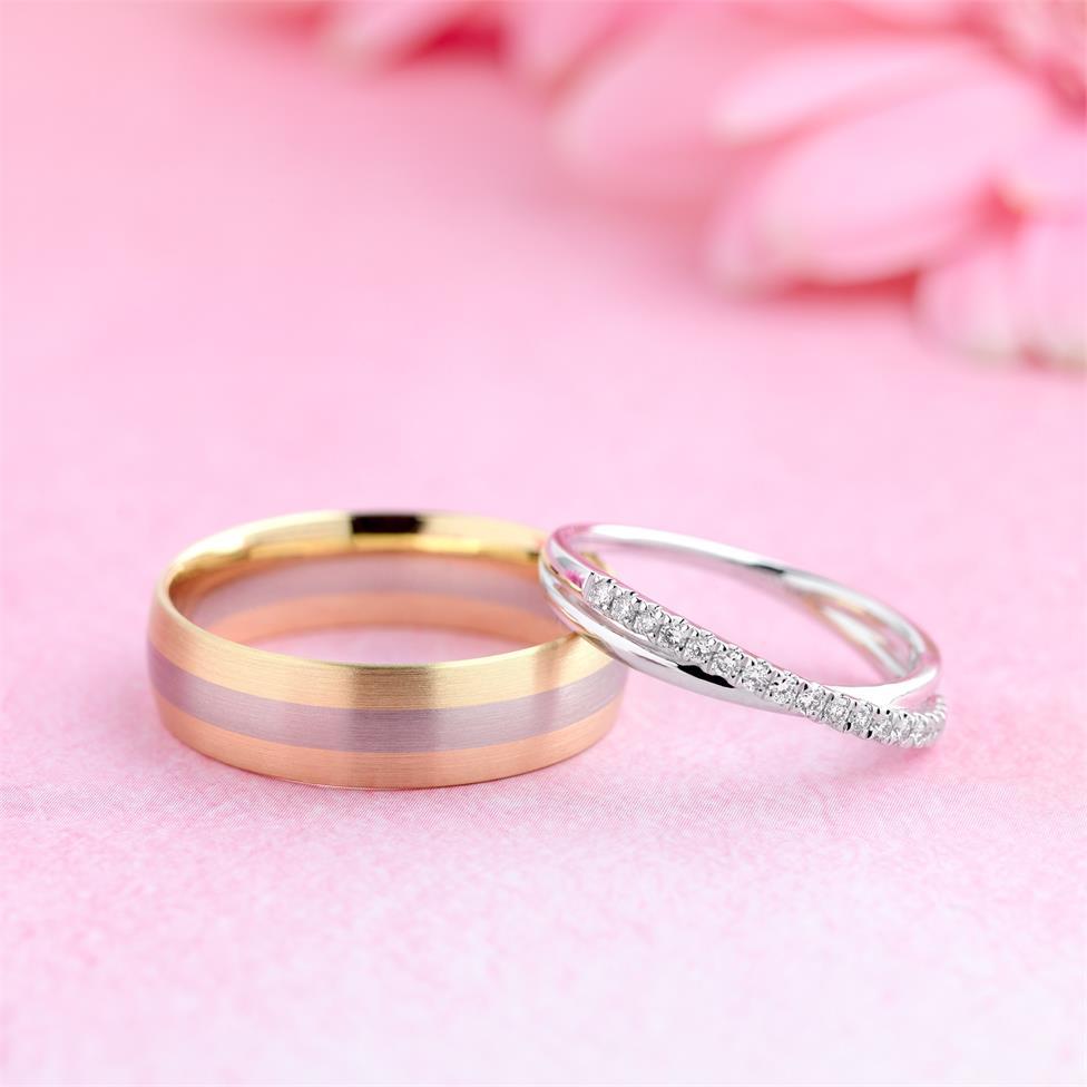 Platinum Crossover Design Diamond Dress Ring 0.20ct Thumbnail Image 1