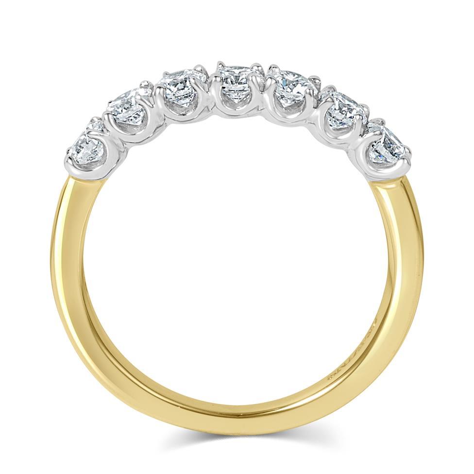 18ct Yellow Gold Diamond Seven Stone Eternity Ring 0.70ct Thumbnail Image 2