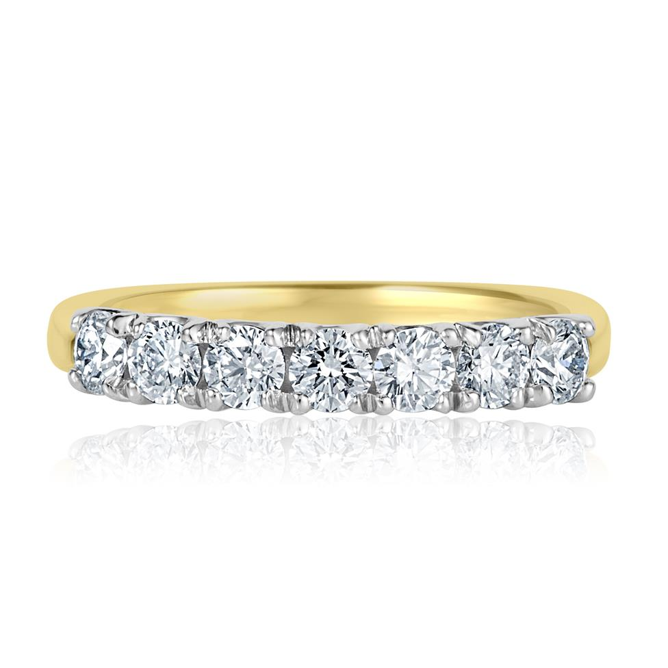 18ct Yellow Gold Diamond Seven Stone Eternity Ring 0.70ct Thumbnail Image 1