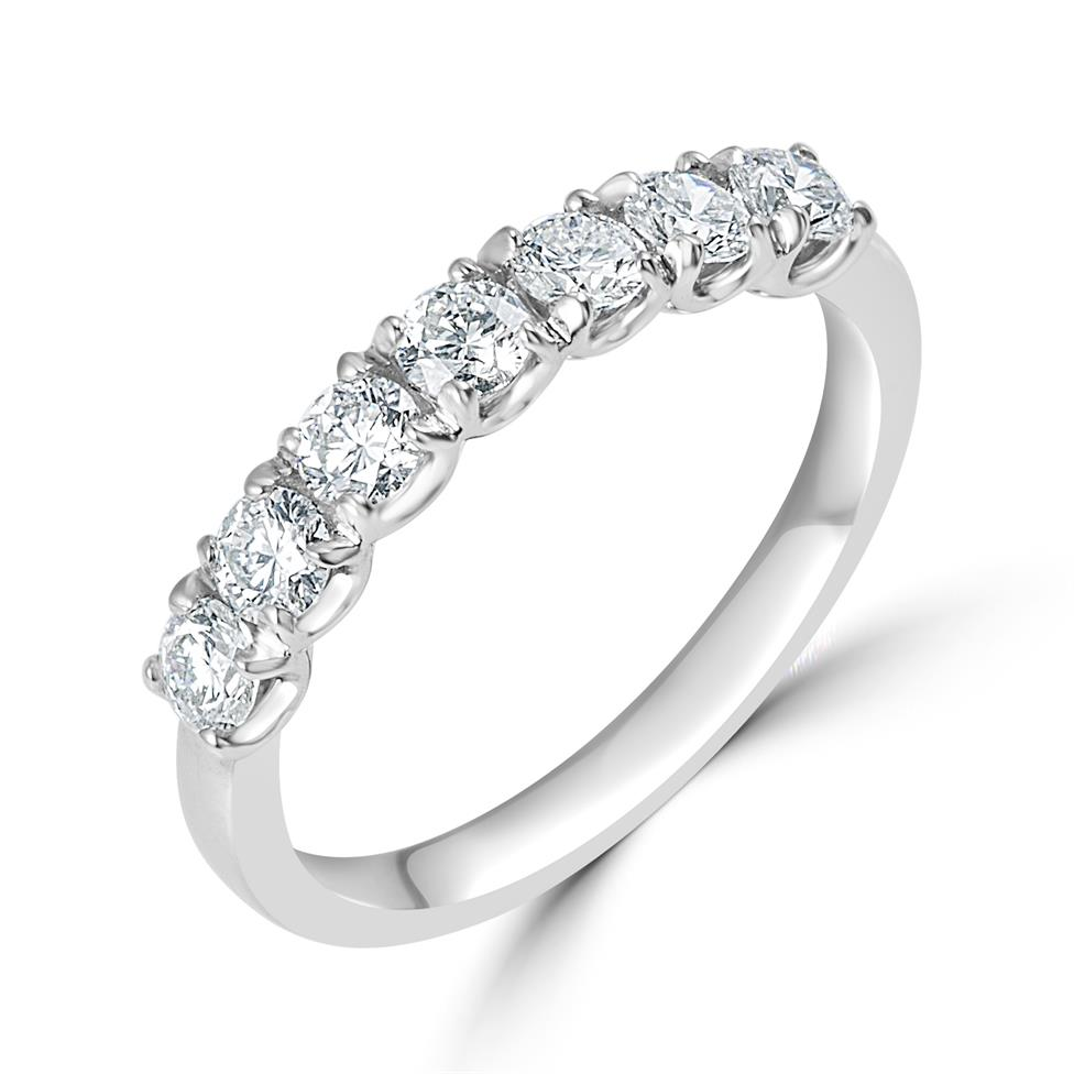 Platinum Diamond Seven Stone Eternity Ring 0.70ct Thumbnail Image 0