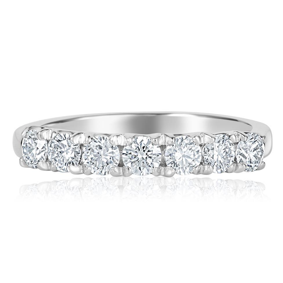 Platinum Diamond Seven Stone Eternity Ring 0.70ct Thumbnail Image 1