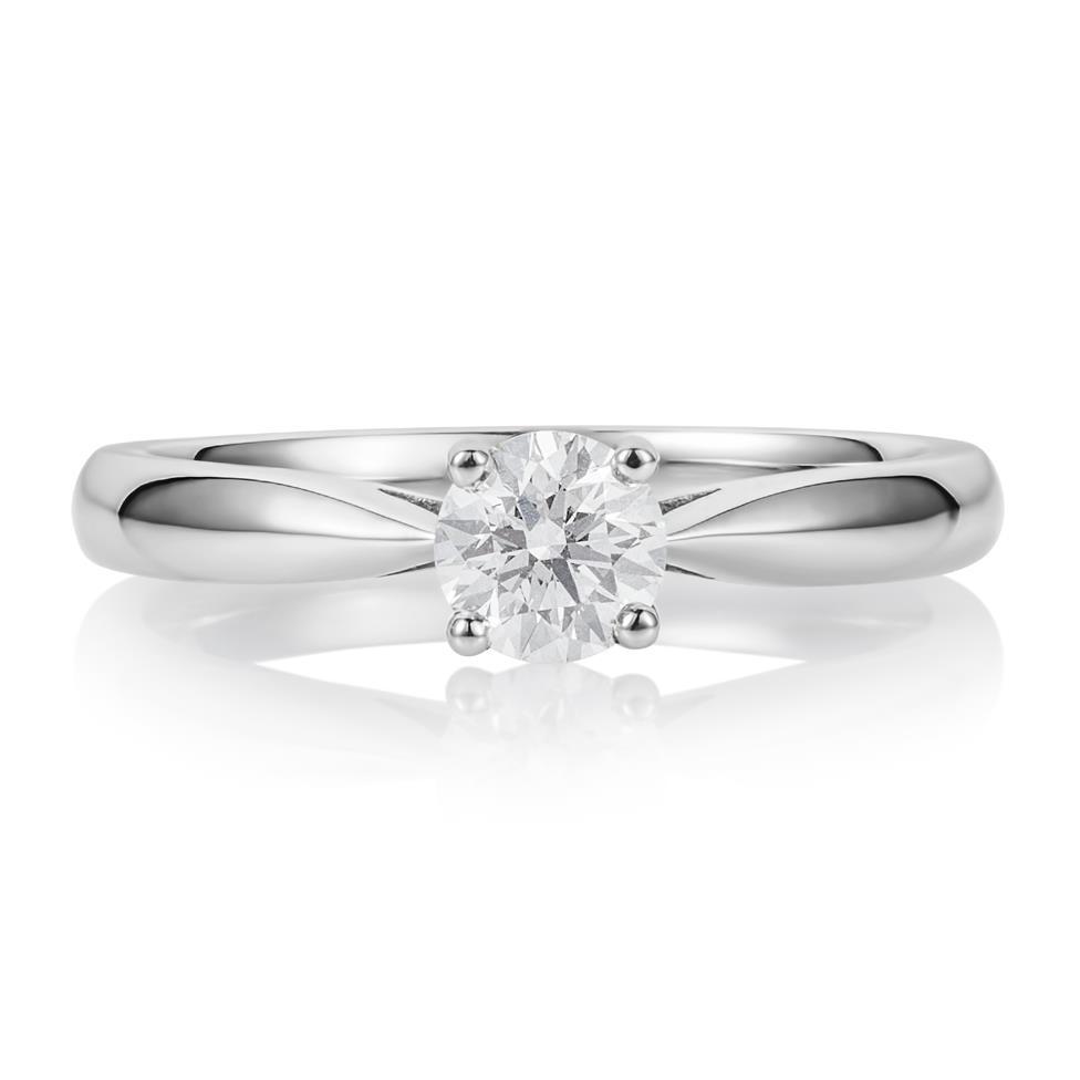 Platinum Classic Design Diamond Solitaire Engagement Ring 0.40ct Thumbnail Image 2