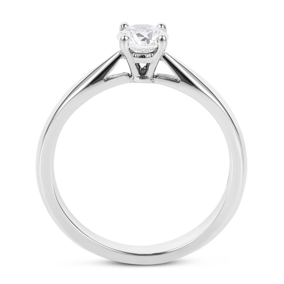 Platinum Classic Design Diamond Solitaire Engagement Ring 0.40ct Thumbnail Image 3
