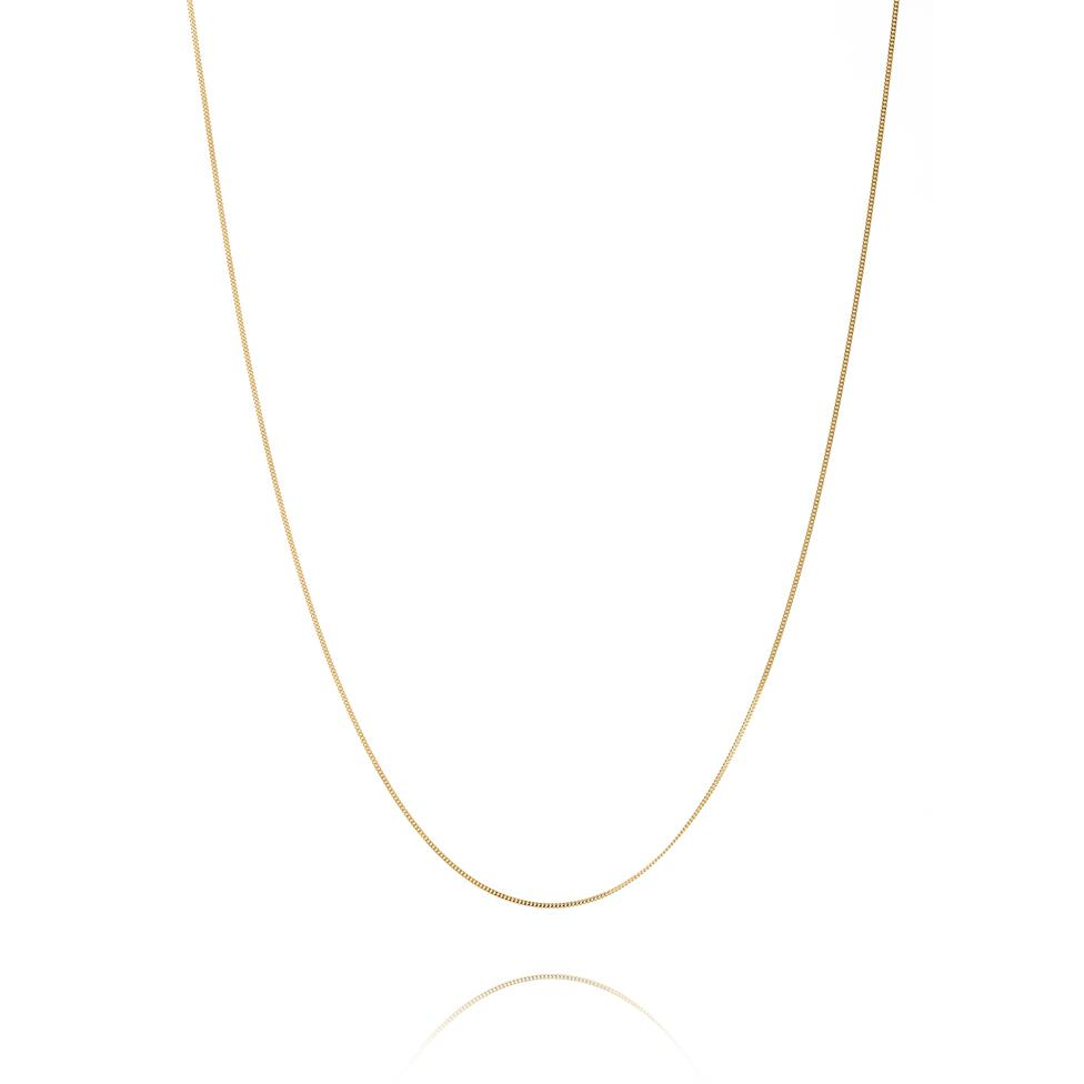18ct Yellow Gold Filed Curb Chain 42cm Thumbnail Image 0
