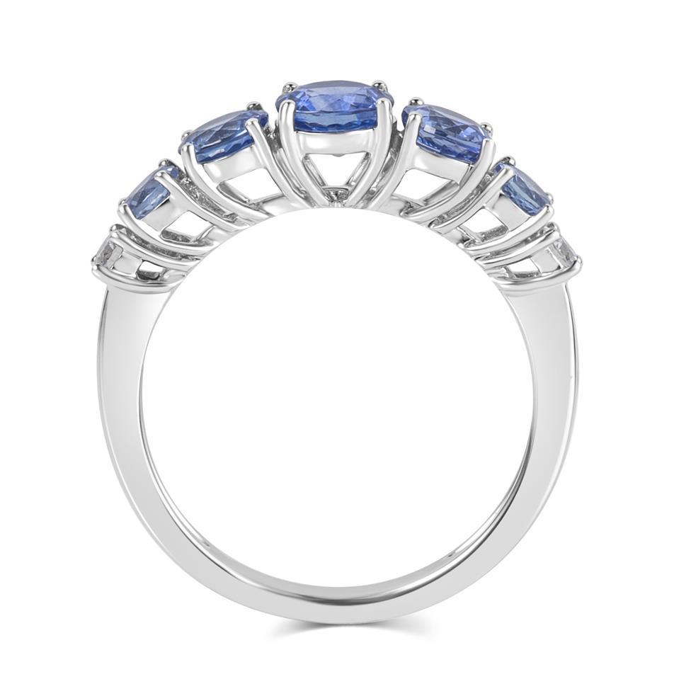 Bonbon 18ct White Gold Sapphire and Diamond Dress Ring Thumbnail Image 3