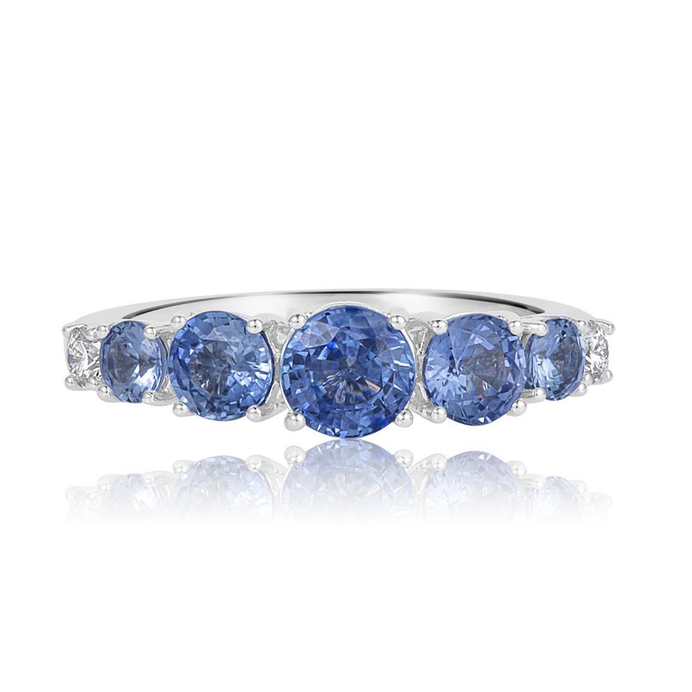 Bonbon 18ct White Gold Sapphire and Diamond Dress Ring Thumbnail Image 2