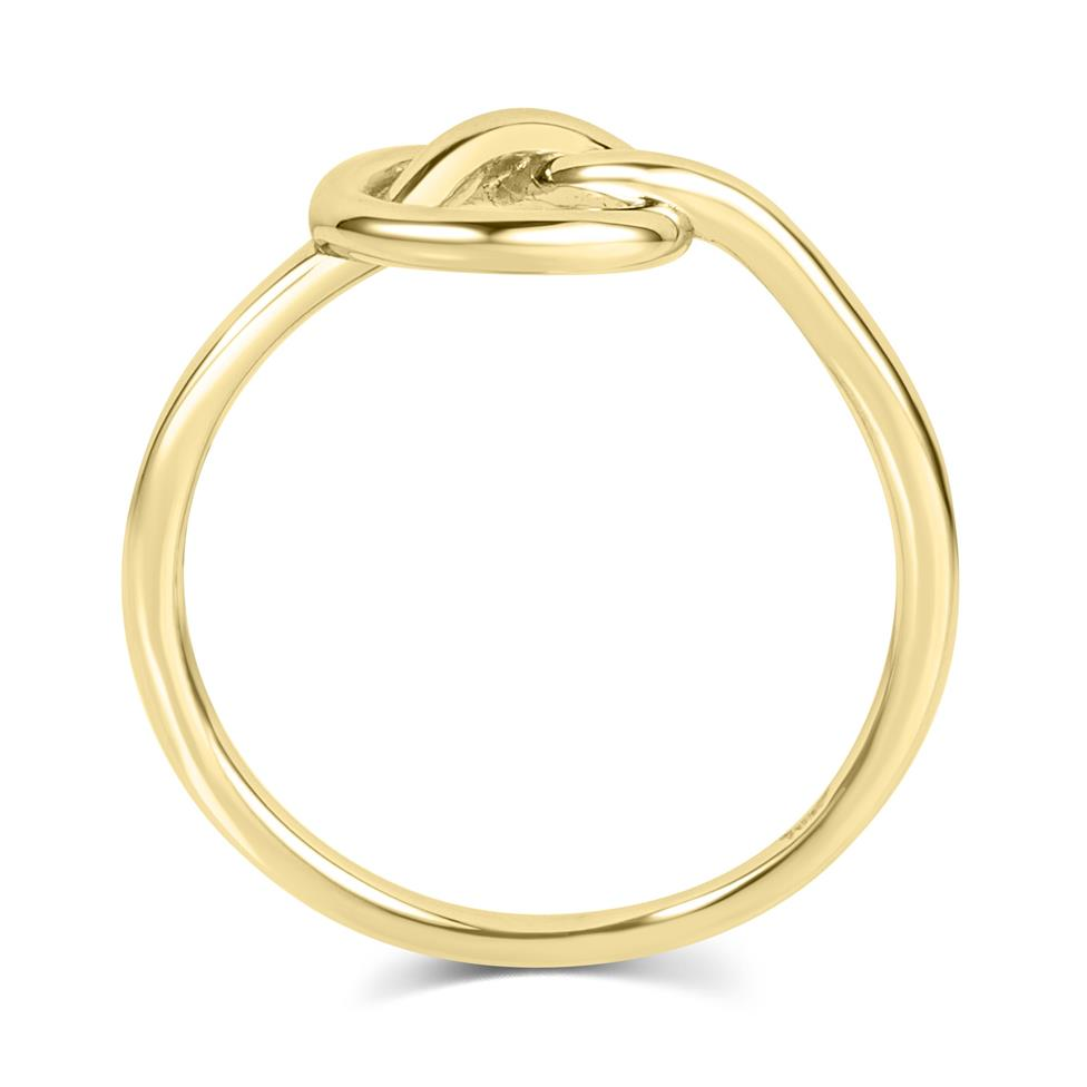Forget Me Knot 18ct Yellow Gold Knot Design Dress Ring Thumbnail Image 2