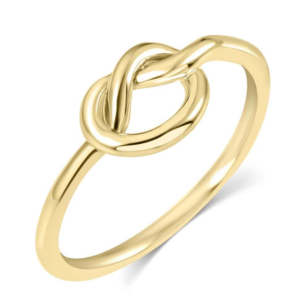 Forget Me Knot 18ct Yellow Gold Knot Design Dress Ring Thumbnail Image 0
