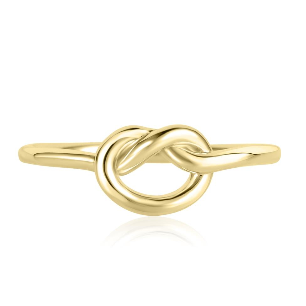Forget Me Knot 18ct Yellow Gold Knot Design Dress Ring Thumbnail Image 1