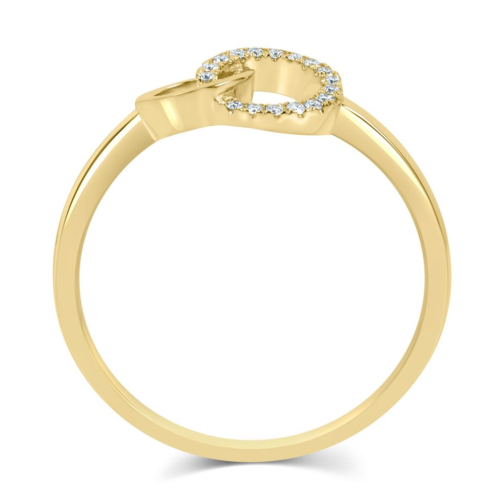 Union 18ct Yellow Gold Diamond Dress Ring 0.06ct Thumbnail Image 2