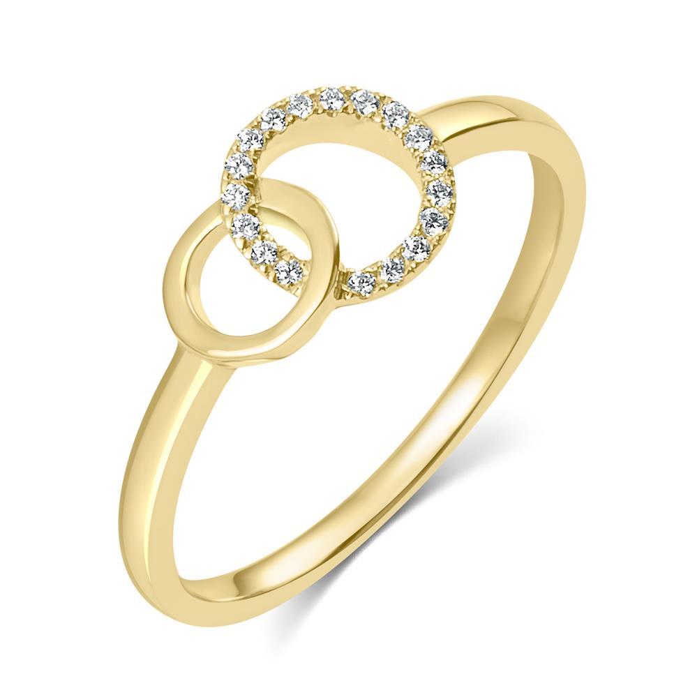 Union 18ct Yellow Gold Diamond Dress Ring 0.06ct Thumbnail Image 0