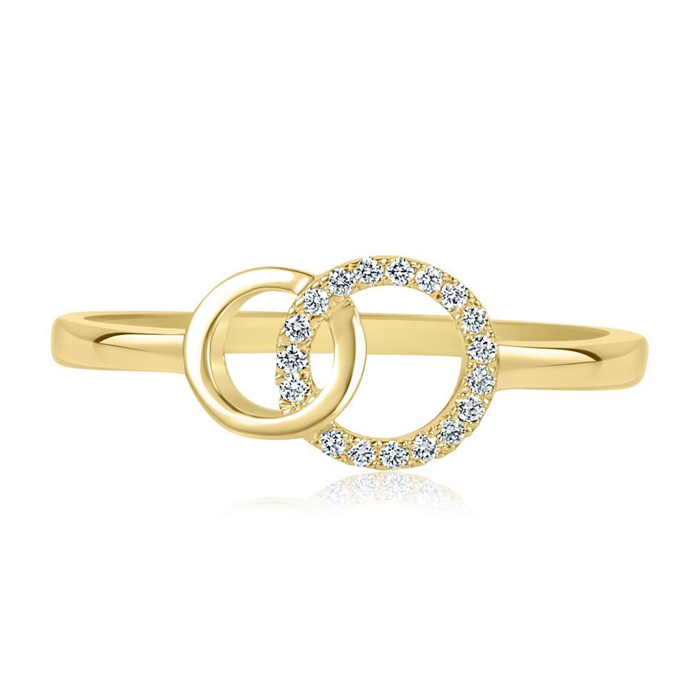 Union 18ct Yellow Gold Diamond Dress Ring 0.06ct Thumbnail Image 1