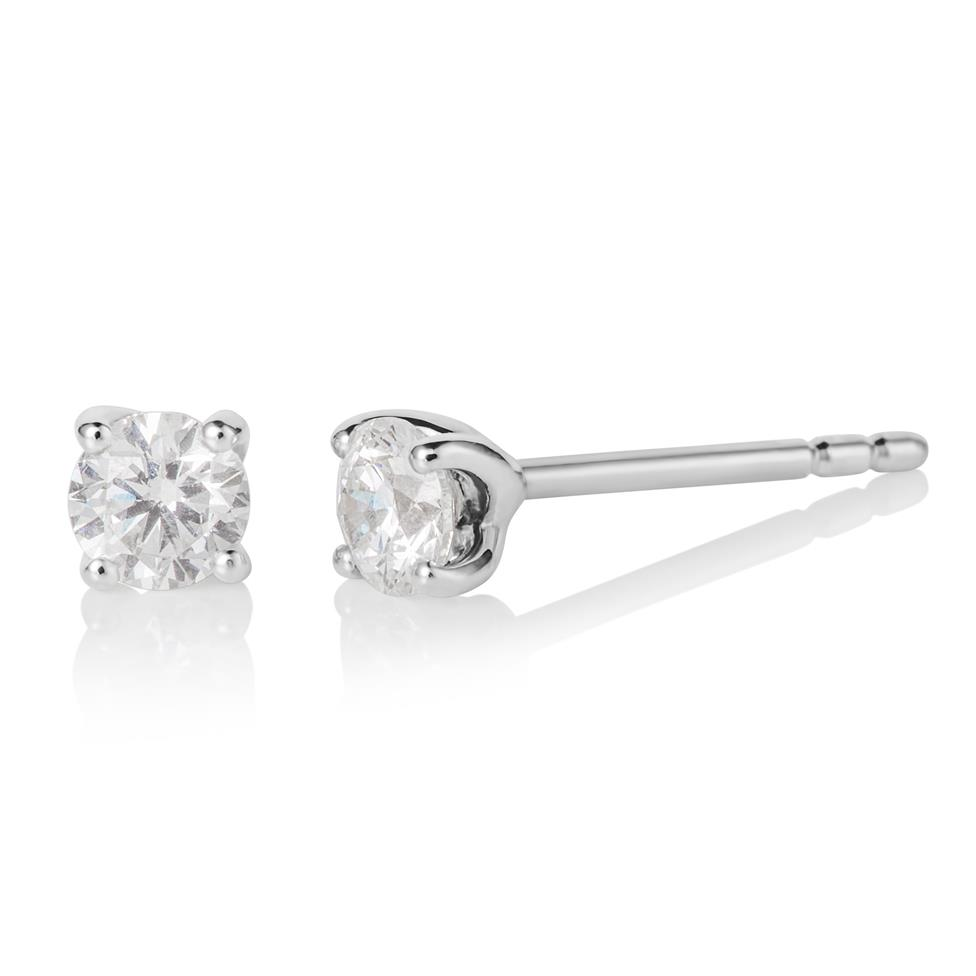 18ct White Gold 0.50ct Diamond Stud Earrings Image 1